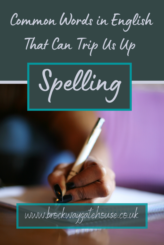 Pinterest Pin - Spelling - Common Words (1)