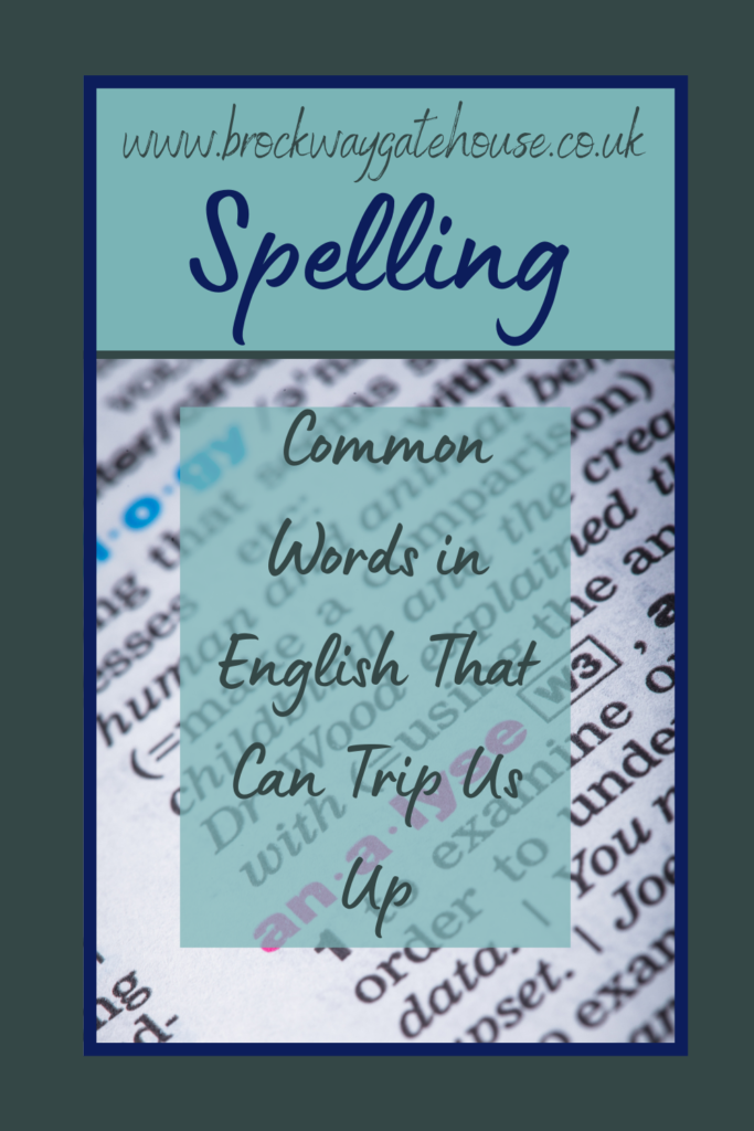 Pinterest Pin - Spelling - Common Words (2)